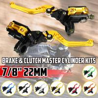 Universal Motorcycle Hydraulic Brake Clutch Master Cylinder Reservoir Lever