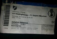 Sammler Used Ticket SV Rödinghausen vs FC Bayern München DFB-POKAL