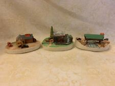 Sebastian Miniatures Lot Of 3-Filling Station-Wayside Grist Mill-Covered Bridge