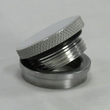 Polished Aluminum Gas Cap with STEEL Bung Fuel Petrol Tank Chopper Bobber Harley
