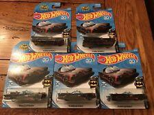 2018 50th Hot Wheels BATMAN TV SERIES BATMOBILE 1966 DC Lot of 5 FIVE Cars
