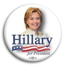 "Hillary Clinton Democrat for President Button Pin 3"""