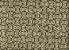 Woven Mid Century Modern Contemporary Geometric Spa Blue Brown Upholstery Fabric