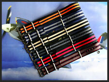 24mm Black-Tan NATO g10 nylon RAF watch band strap utc Bonded IW SUISSE 18 20 22