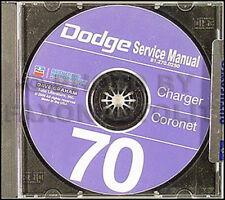 1970 Dodge CD Repair Shop Manual 70 Charger Coronet Super Bee RT 400 500