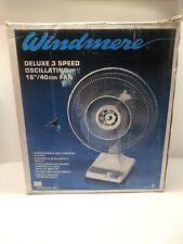 Vintage Windmere Oscilating Cage Table Fan NIB