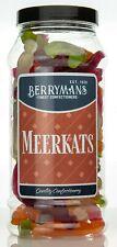 Meerkats Jelly Gummy Retro Sweets Gift Jar by Berrymans