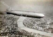 The Graf Zeppelin Over Basel 1930 VINTAGE ART PRINT - FREE UK P&P