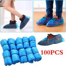 100PCS Blue Foot Shoes Cover Dustproof Plastic Disposable Floor Protector