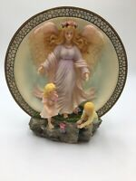 Vintage 1996 Collection by Sansco 3 Dimensional Guardian Angel Plate With Stand