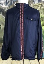 Tommy Hilfiger Jeans Mens Vintage Logo Windbreaker Blue Jacket XL