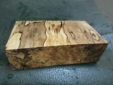 MM-SPALTED  MAPLE  DELUXE  KNIFE BLOCK/SCALES/ CALLS/ PEN BLANKS--M--27