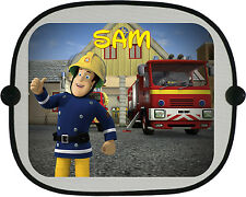 Personalised Fireman Sam Car Sun Shade. Personalised with any Name or Text