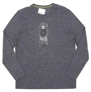 Smartwool Grey Merino Sport 150 Old Man Winter LS Tee Men's Size Small 81867