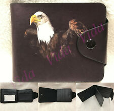 Men's Faux Leather Printed Wallet / Card Holder. Eagle Print