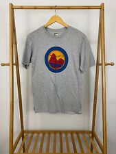 The North Face Boy's Mountain Circle Logo Graphic Gray T-Shirt Youth Xl