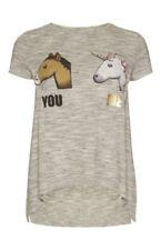 Hip Length Cotton Blend Unicorn T-Shirts for Women
