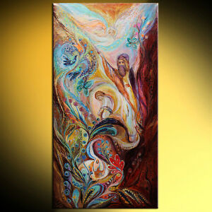 The Patriarchs series - Abraham judaica symbolism art by Elena Kotliarker