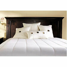 Sunbeam M1-08 Quilted Electric Heated Mattress Pad Queen White