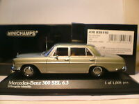 WOW EXTREMELY RARE MINICHAMPS 1/43 1968 MERCEDES-BENZ 300SEL (W109) SUPERBNLA!!!