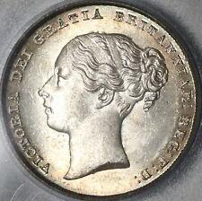 New listing 1855 Pcgs Ms 64 Victoria Shilling Great Britain Silver Coin (20022301C)