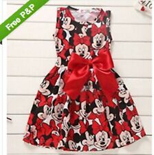 Reds  Mouse Princess Birthday Party Outfit Girls Dresses AGE 1-2Y-3-4-5-6Y