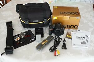 Nikon D5500 DSLR Camera - Black Body w/Accessories - Fabulous Condition!!!