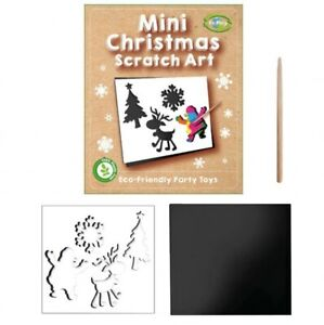 Christmas Mini Scratch Art 12 x 10 cm  Pack of 6 or 12