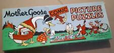 Vintage MOTHER GOOSE COMIC PICTURE PUZZLES Parker Brothers Inc.