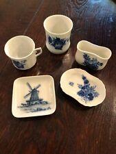 Blue Flower Royal Copenhagen China Porcelain Trinket dish cup vase bowl plate