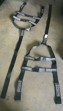 set of 2 U-HAUL tow dolly Basket Straps Tire strap Wheel Net LOOP END Black USA
