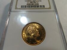 X4 Sweden 1877-EB GOLD 20 Kronor NGC MS-65