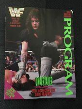 WWF PROGRAM  VOL#201 Undertaker  With Event Card 5-1-92