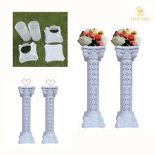 2Pcs Elegant Wedding Roman Column Decoration Party Flower Pot Pillar Decor White