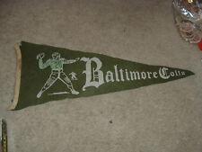 1940's AAFC or 1950 Baltimore Colts  Pennant Autographed by Gino Marchetti