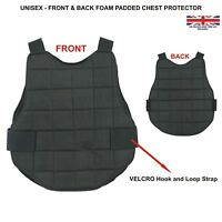 Chest Protector Body Armour Armor Paintball Airsoft Shield Vest Protection Black
