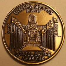 United States Army School of the Americas Bronze Army Challenge Coin