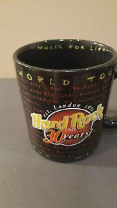 "Hard Rock Cafe Memphis Guitar Handle Large Mug Cup Brown Black Music 5.25/"" Tall"