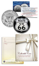 ROUTE 66 * Legendary Highway* JFK Kennedy Half Dollar U.S. Colorized Coin