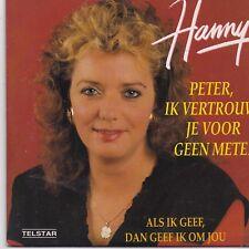 Hanny-Peter Ik Vertrouw Je Voor Geen Meter cd single