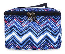 Wholesale Makeup Bags Cosmetic Lot Bulk Make Up Dozen 12 pieces Chevron Blue