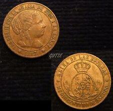 *GUTSE*445-ISABEL II, 1/2 CÉNTIMO DE ESCUDO 1867, BARCELONA OM, EBC+