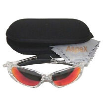 Aspex Eyewear Iowa Sunglasses Shades (Grey lens / red mirror finish) UV400