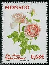 """Princesse Charlene de Monaco"" Rose mnh stamp 2015 Monaco flower #2821"
