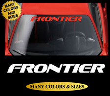 Frontier Text Windshield Vinyl Decal Sticker Banner Fits Nissan Cars & Trucks