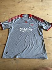 Liverpool Away Shirt Grey Calsberg Adidas Climate Mens XL