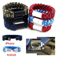 Nylon Bracelet Charger For iPhone Fast Charging Cable Woven Wrist Band AUS