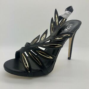 Ladies Black High Heels Shoes Sandals Size 3 UK EU 36 Women Party Buckle