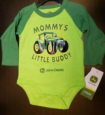 UNISEX INFANT JOHN DEERE MOMMY'S LITTLE LONG SLEEVED BODYSUIT SIZE 6-9 MONTHS