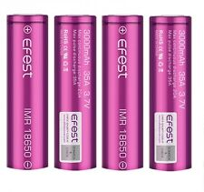 4 Genuine Efest IMR 18650 3000mah 35A Free Post included Li-MN Battery Flat Top